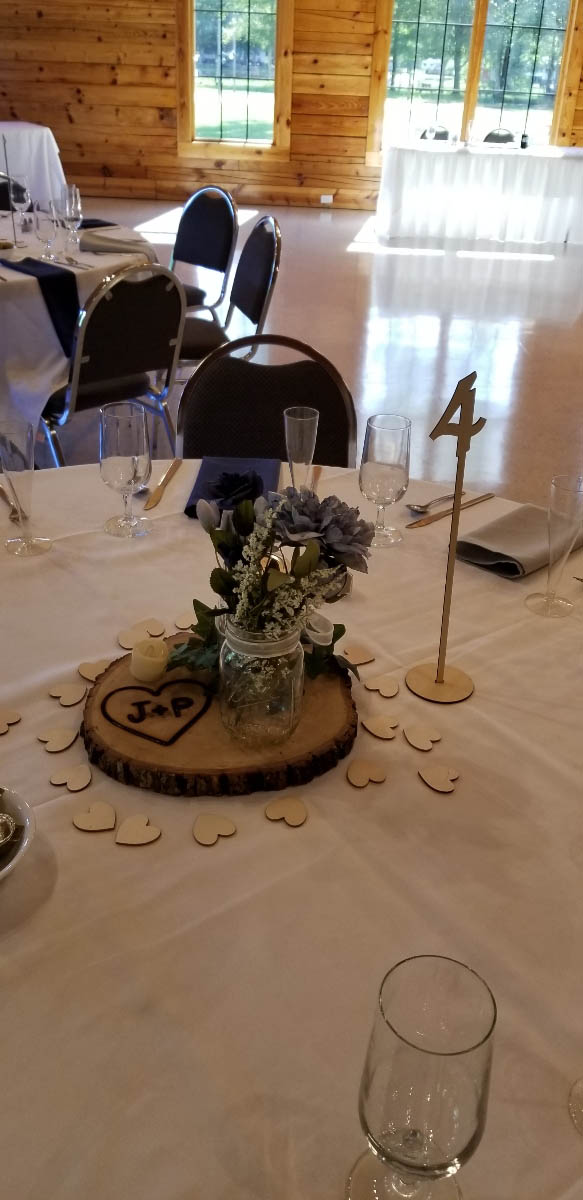table display for wedding reception