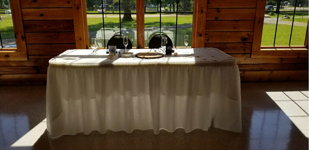photo of wedding party table