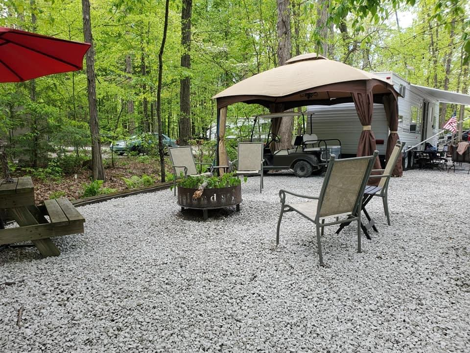campsite at american wilderness campground closest campground to cleveland ohio
