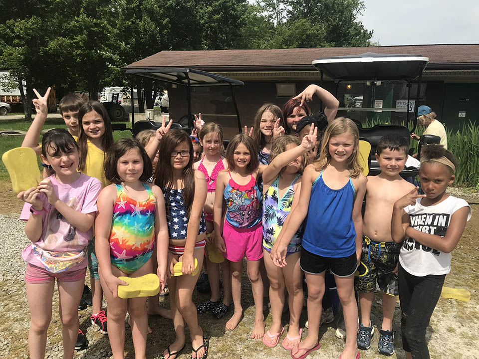 photo of kids at american wilderness campground